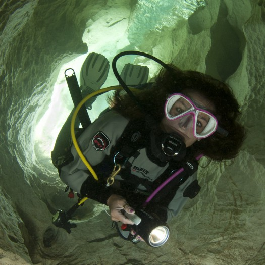 diver in ghost cave -1