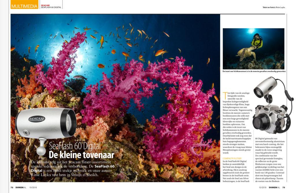 SeaFlash 60 Digital review door Rinse Luijkx.